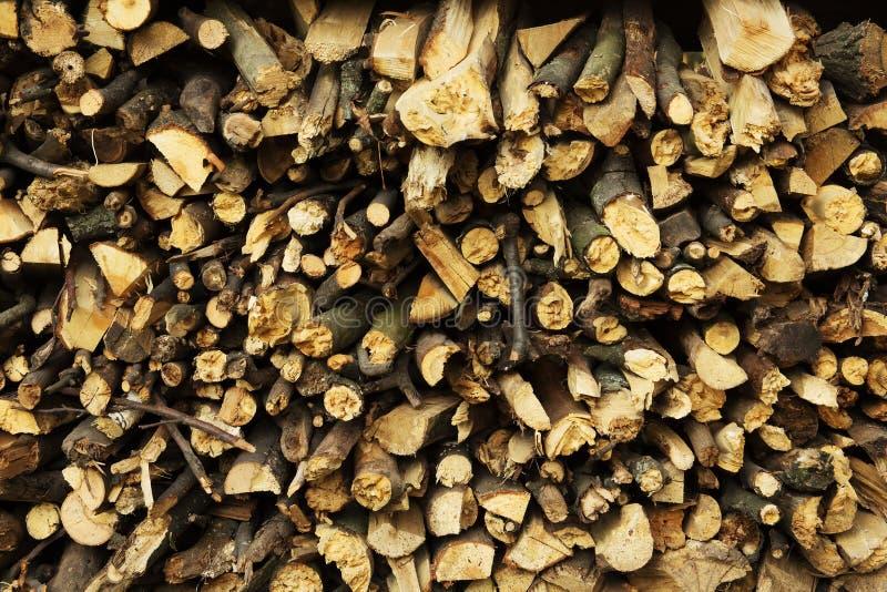 Struttura della legna da ardere, dopo il legno di sawing fotografia stock libera da diritti