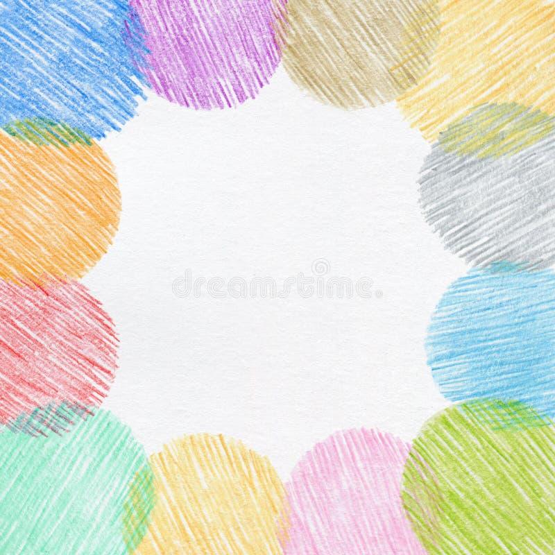 Struttura della matita di colore di disegno della mano fotografie stock libere da diritti