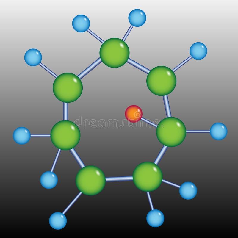 Struttura della molecola royalty illustrazione gratis