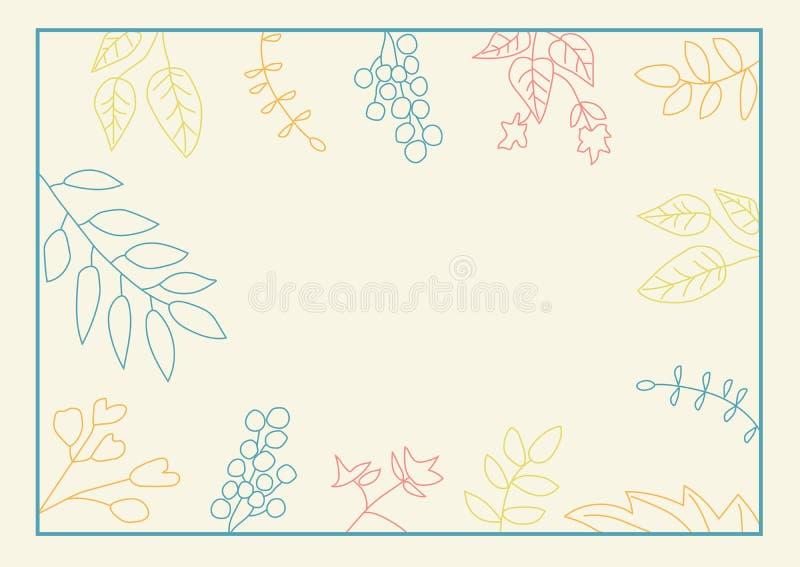 Struttura della natura con le foglie olorful del  di Ñ immagine stock libera da diritti