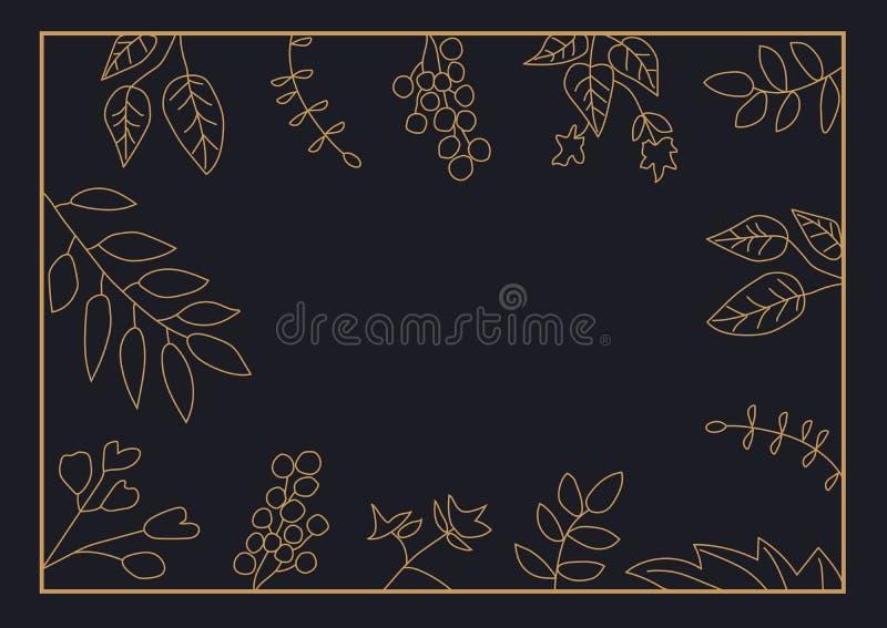 Struttura della natura con le foglie su fondo nero fotografia stock libera da diritti