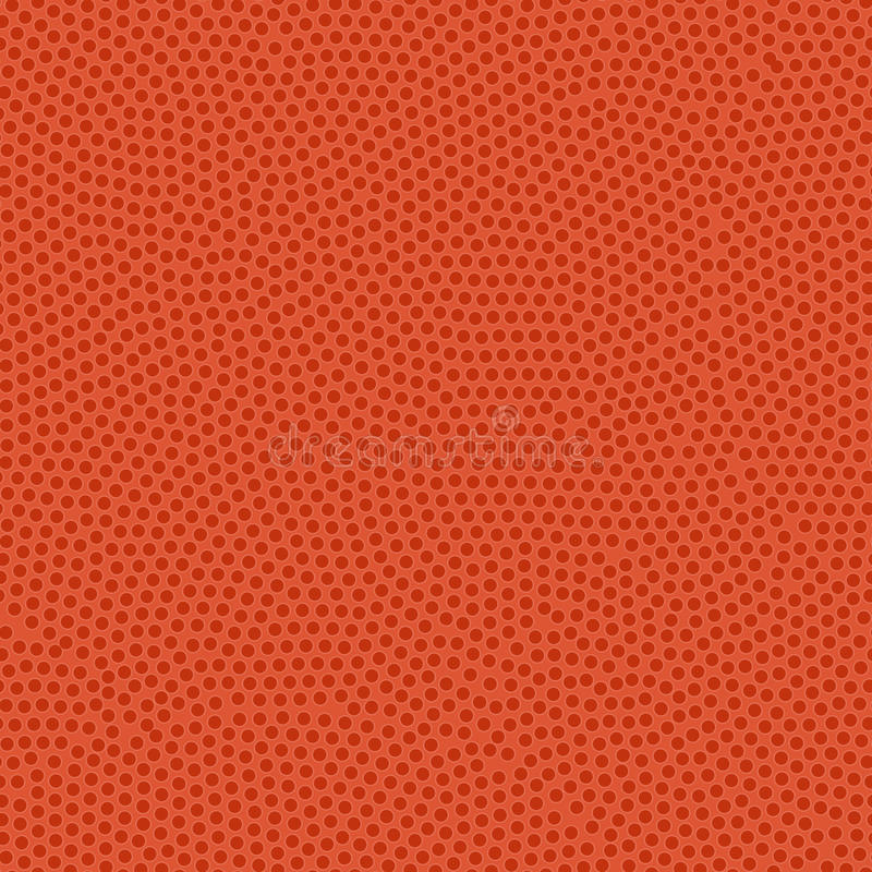 Struttura della palla di pallacanestro Rivestimento di gomma arancio con i brufoli Sea illustrazione vettoriale