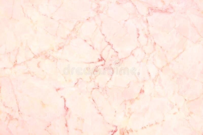 Struttura della parete del marmo dell'oro di Rosa per l'opera d'arte di progettazione e del fondo, modello senza cuciture della p fotografia stock