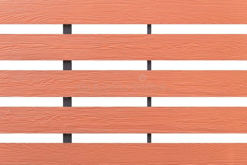 Struttura della parete di legno dell'assicella isolata su fondo bianco immagine stock libera da diritti