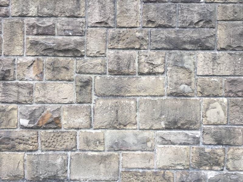 Struttura della parete di pietra con i grandi mattoni sul muro di cinta storico antico in Germania, Europa fotografia stock libera da diritti
