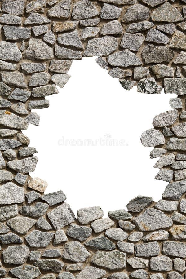Struttura della parete di pietra con il foro vuoto Png disponibile fotografie stock