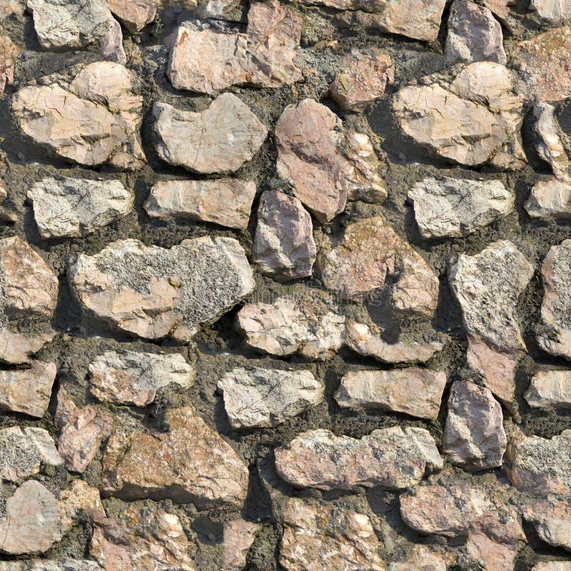 Parete di pietra. Struttura senza cuciture di Tileable. fotografia stock