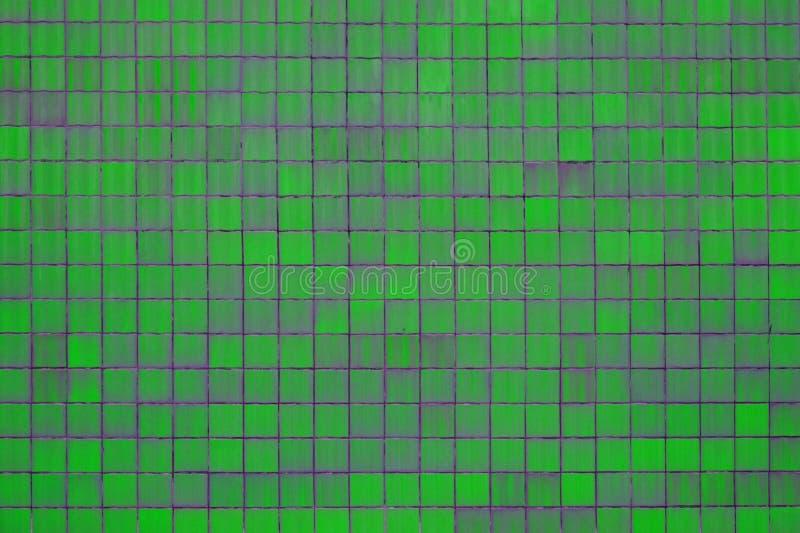 Struttura della parete verde delle mattonelle illustrazione vettoriale
