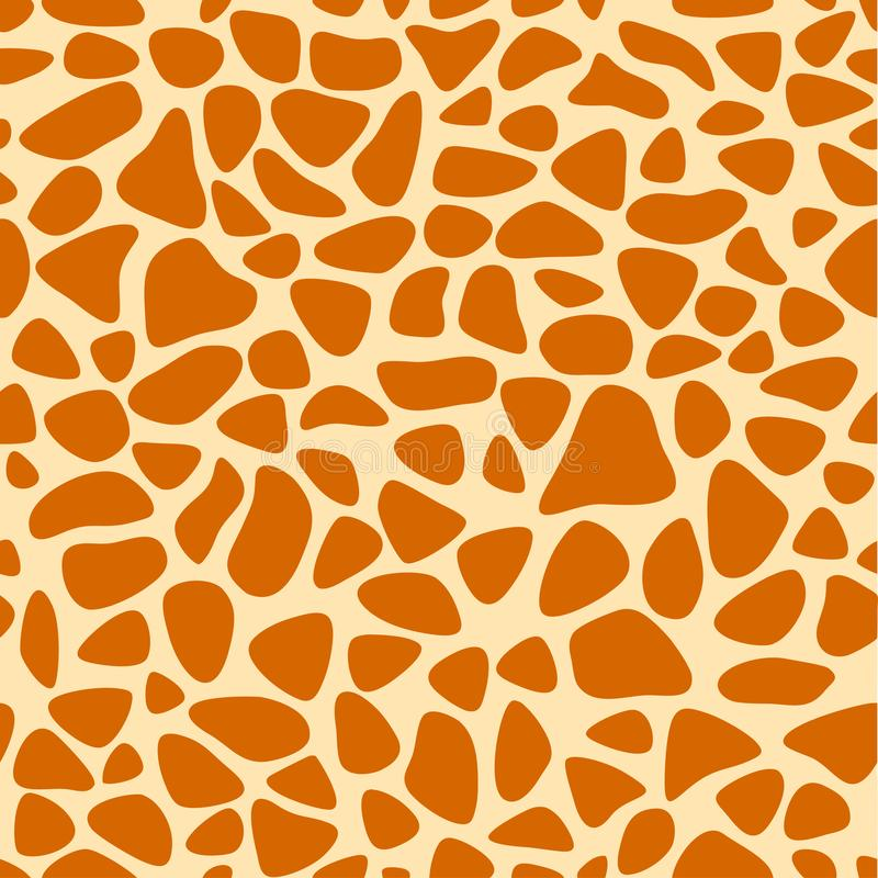 Struttura della pelle della giraffa, modello senza cuciture, ripetendo i punti arancio e gialli, fondo, safari, zoo, giungla Vett royalty illustrazione gratis