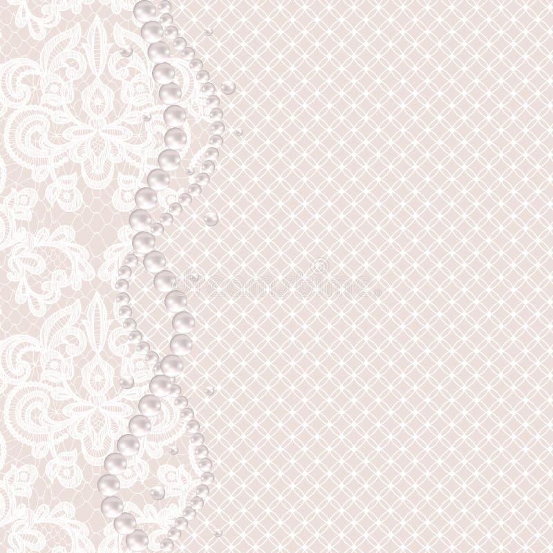 Download Struttura Della Perla Sul Fondo Del Pizzo Illustrazione Vettoriale - Illustrazione di elegante, modo: 56882228