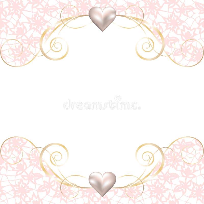 Download Struttura Della Perla Sul Fondo Del Pizzo Illustrazione Vettoriale - Illustrazione di bambino, cuore: 56883053
