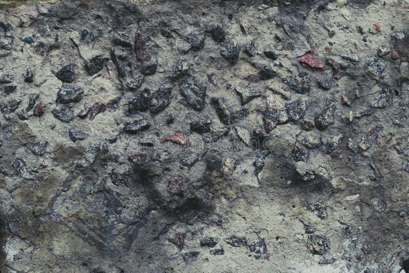 Struttura della pietra grigia Fondo grigio scuro di lerciume Cementi la priorit? bassa della parete Fondo strutturato della pietr fotografia stock libera da diritti