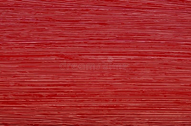 Struttura della pittura ad olio rossa del pennello fotografia stock libera da diritti