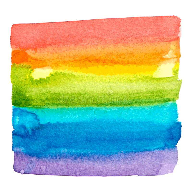Struttura della pittura dell'arcobaleno di vettore isolata illustrazione di stock