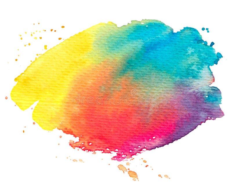 Struttura della pittura dell'arcobaleno di vettore isolata su bianco per la vostra progettazione illustrazione vettoriale