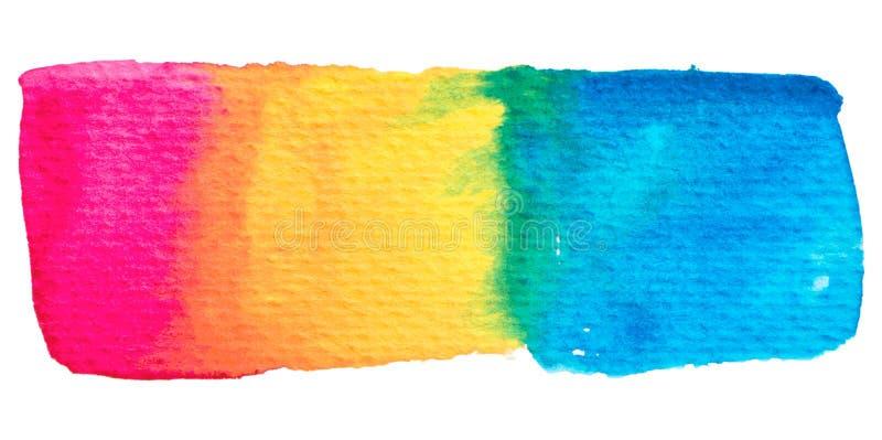 Struttura della pittura dell'arcobaleno di vettore isolata su bianco royalty illustrazione gratis