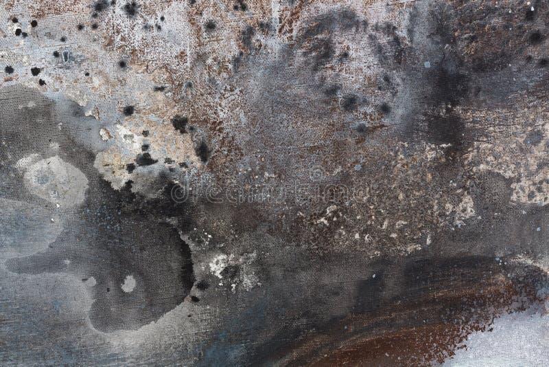 Struttura della pittura a olio sottragga la priorità bassa Colori grigi fotografia stock