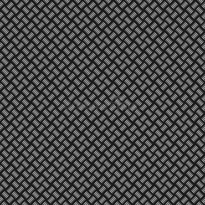 Struttura della presa del metallo generata Reticolo senza giunte Struttura inossidabile del piatto Priorità bassa nera e grigia M illustrazione di stock