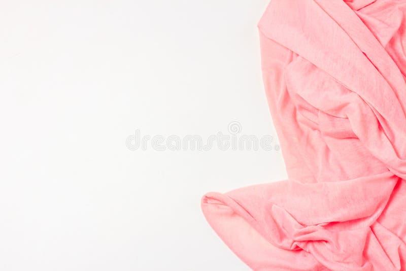 Struttura della priorità bassa rosa del tessuto di cotone Ciò spolverizza il cotone rosa tessuto dà un'aura di una primavera roma fotografia stock libera da diritti