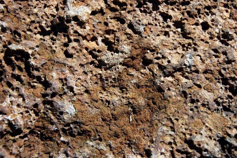 Struttura della roccia della lava fotografie stock libere da diritti