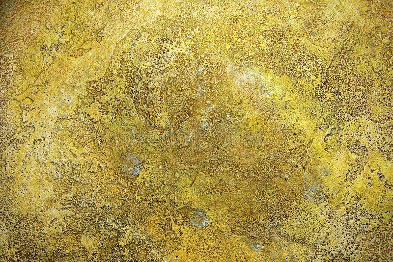 Struttura della superficie di metallo antica dell 39 oro for Carta da parati damascata oro