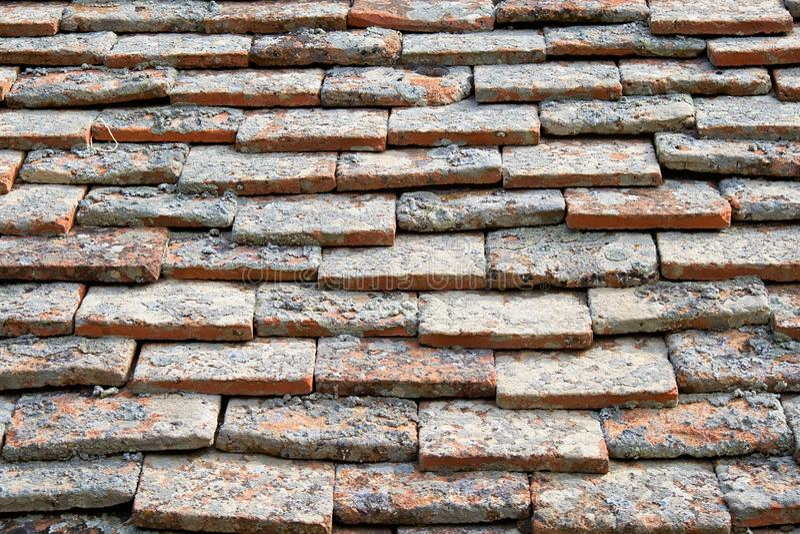 Struttura delle mattonelle di terracota fotografia stock libera da diritti
