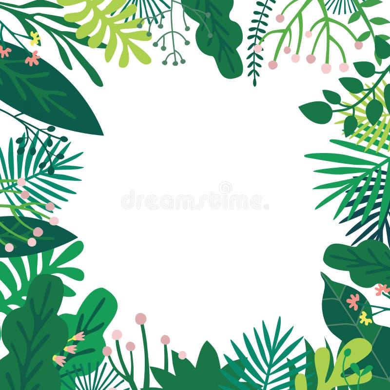 Struttura delle piante di fantasia illustrazione di stock