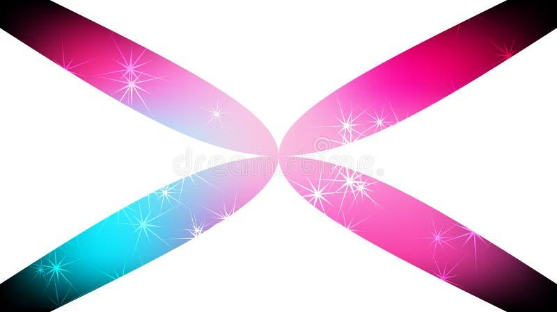Struttura delle stelle galattiche eterogenee luminose distanti colorate colorate multi magiche cosmiche di bello taglio poligonal illustrazione di stock