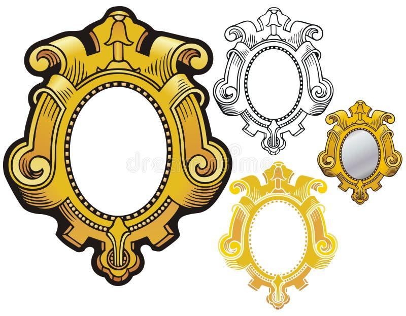 Struttura dello specchio illustrazione vettoriale