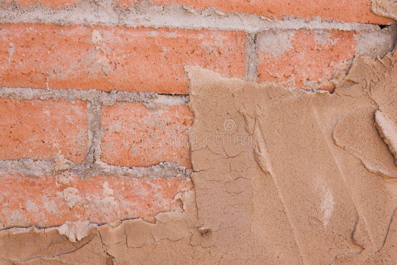 Struttura dello stucco e del mattone fotografia stock libera da diritti
