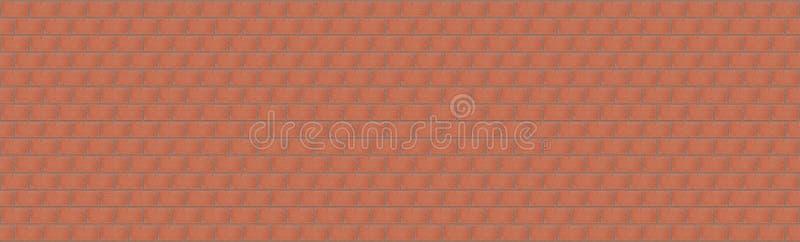 Struttura di ampia muratura rossa un la serie senza fine di nuovi mattoni fotografia stock libera da diritti