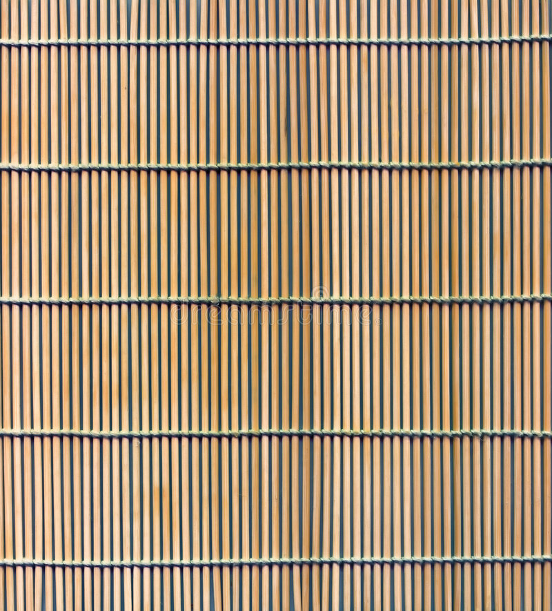 Struttura di bambù della stuoia della paglia del bastone immagine stock