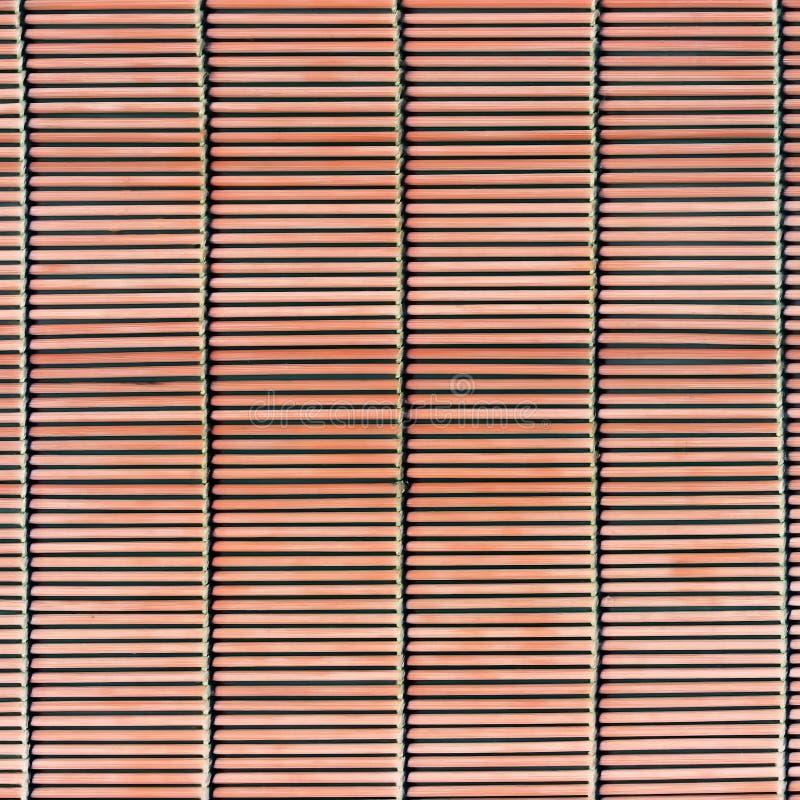 Struttura di bambù della stuoia della paglia del bastone immagini stock libere da diritti