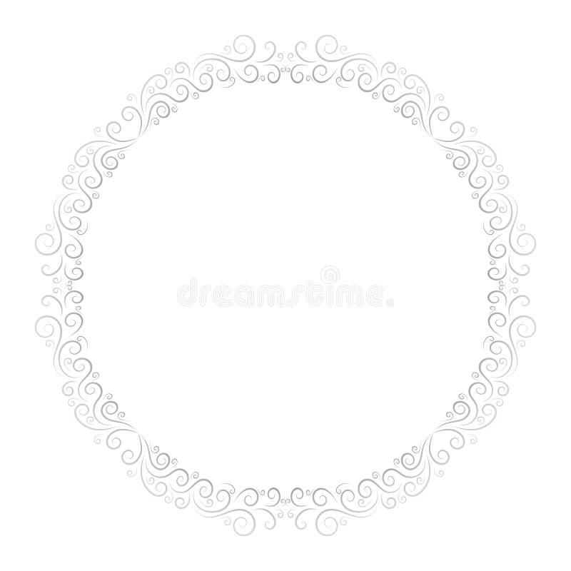 Struttura di base di RGBRound per progettazione decorativa Vettore della cartolina d'auguri Struttura di festa di vettore Bello c royalty illustrazione gratis