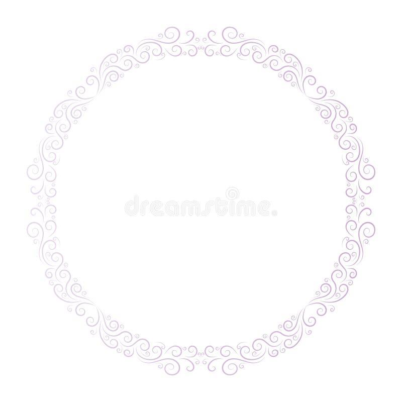 Struttura di base di RGBRound per progettazione decorativa Vettore della cartolina d'auguri Struttura di festa di vettore Bello c illustrazione di stock