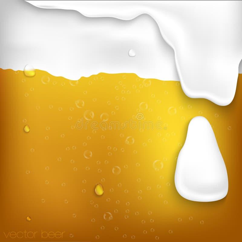 Struttura di birra con schiuma illustrazione di stock