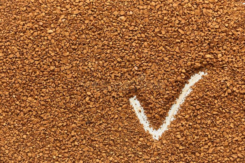 Struttura di caff? istantaneo granelli fini, buon risultato fotografia stock
