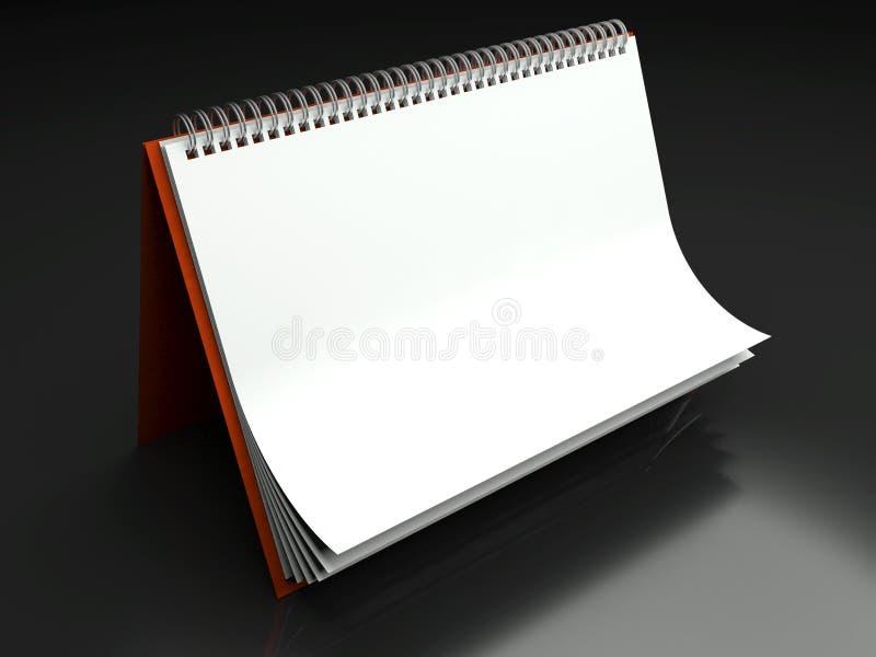 Struttura di carta in calendario in bianco sulla tabella illustrazione di stock