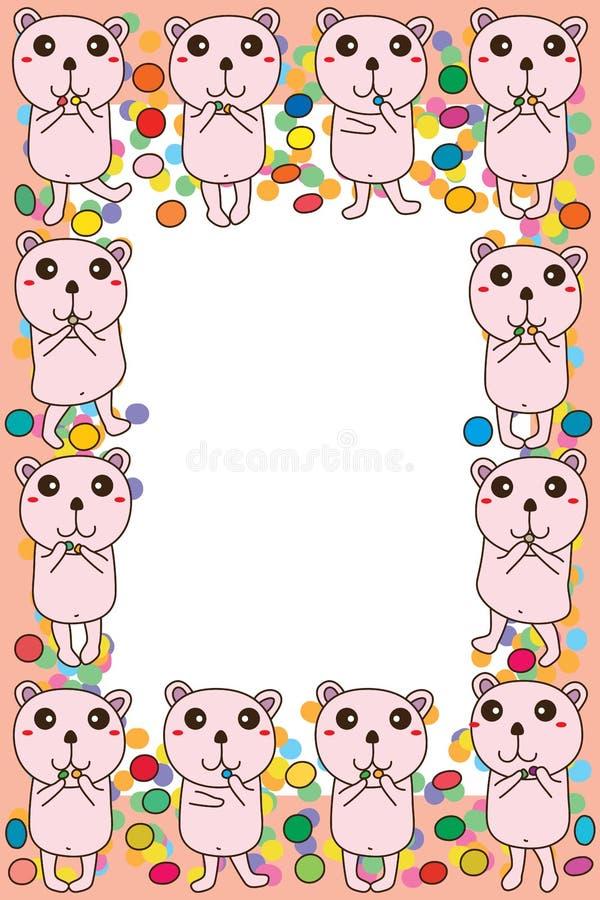 Struttura di carta dello zucchero dell'orso illustrazione vettoriale