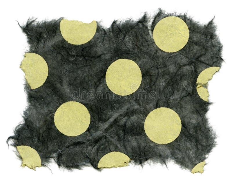 Struttura isolata della carta di riso - punti di Polka verdi  immagine stock libera da diritti