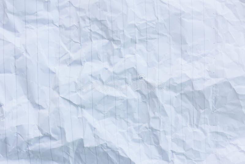 Struttura di carta sgualcita bianca della priorità bassa immagine stock libera da diritti