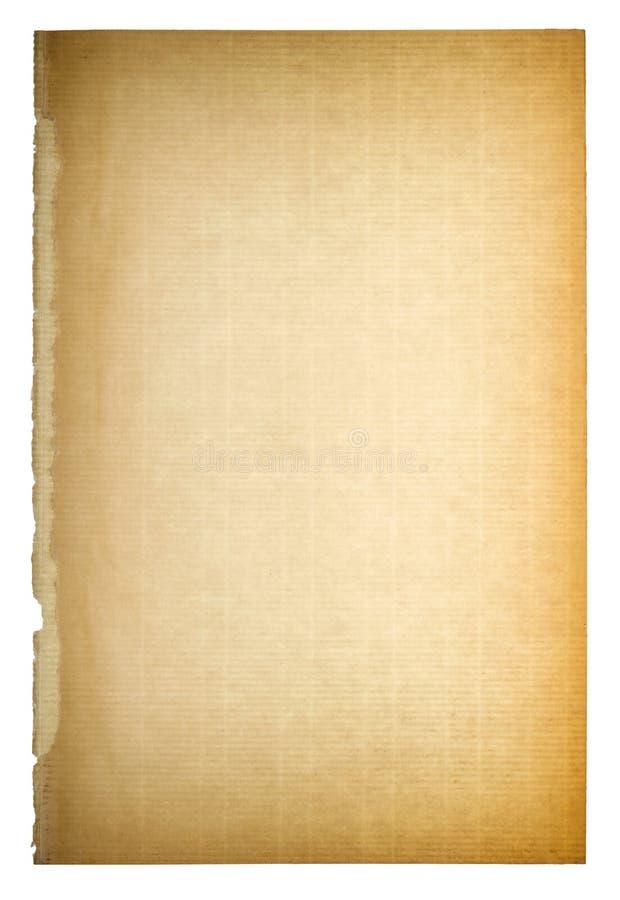Struttura di carta usata della pagina Scenetta d'annata del cartone fotografie stock libere da diritti
