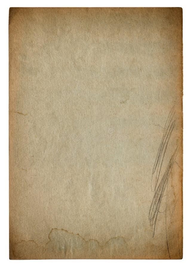 Struttura di carta usata della pagina Scenetta d'annata del cartone immagini stock