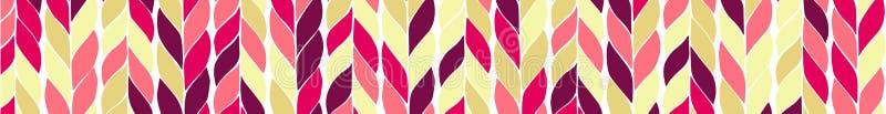Struttura di colore con le trecce verticali Insegna astratta alla moda Stile scandinavo illustrazione vettoriale