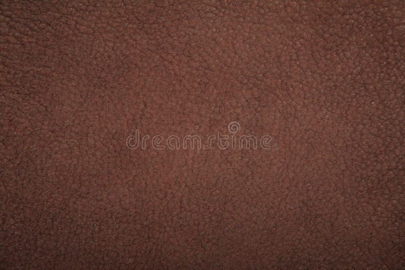 Struttura di colore marrone del lether del camoscio immagini stock libere da diritti
