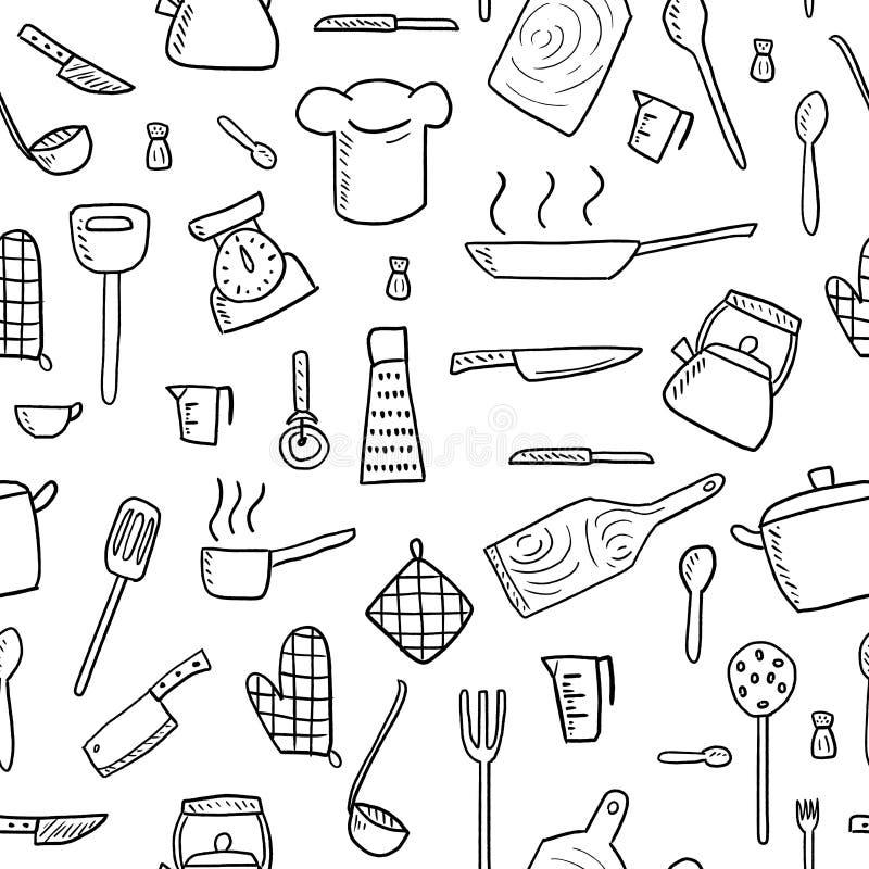 Struttura di cottura senza cuciture illustrazione di stock