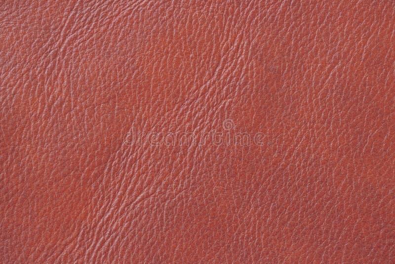 Struttura di cuoio arancio di Brown, fondo, superficie Per il vostro contesto, con lo spazio della copia fotografia stock