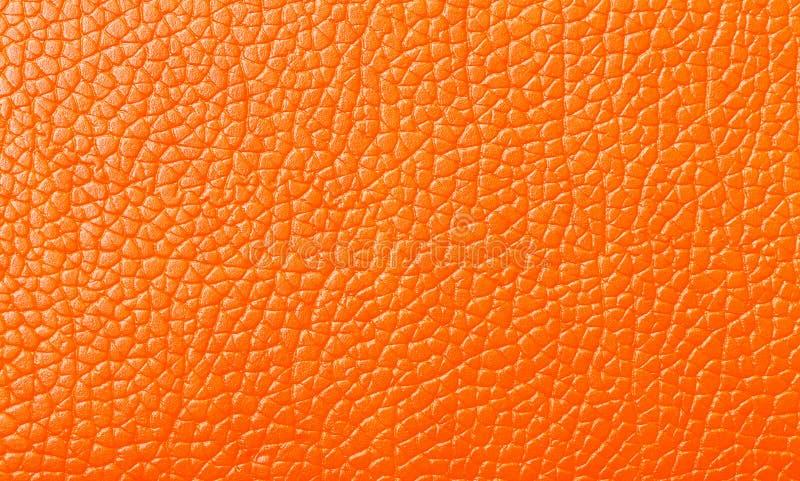 Struttura di cuoio arancio, contesto immagini stock