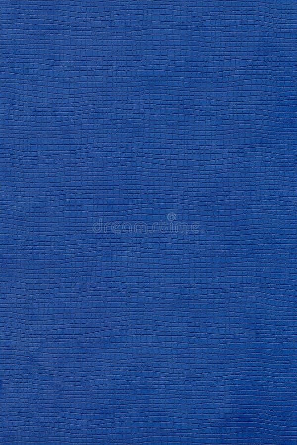 Struttura di cuoio blu immagine stock