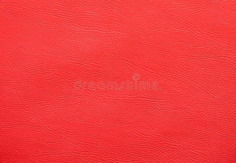 Struttura di cuoio del faux rosso fotografia stock